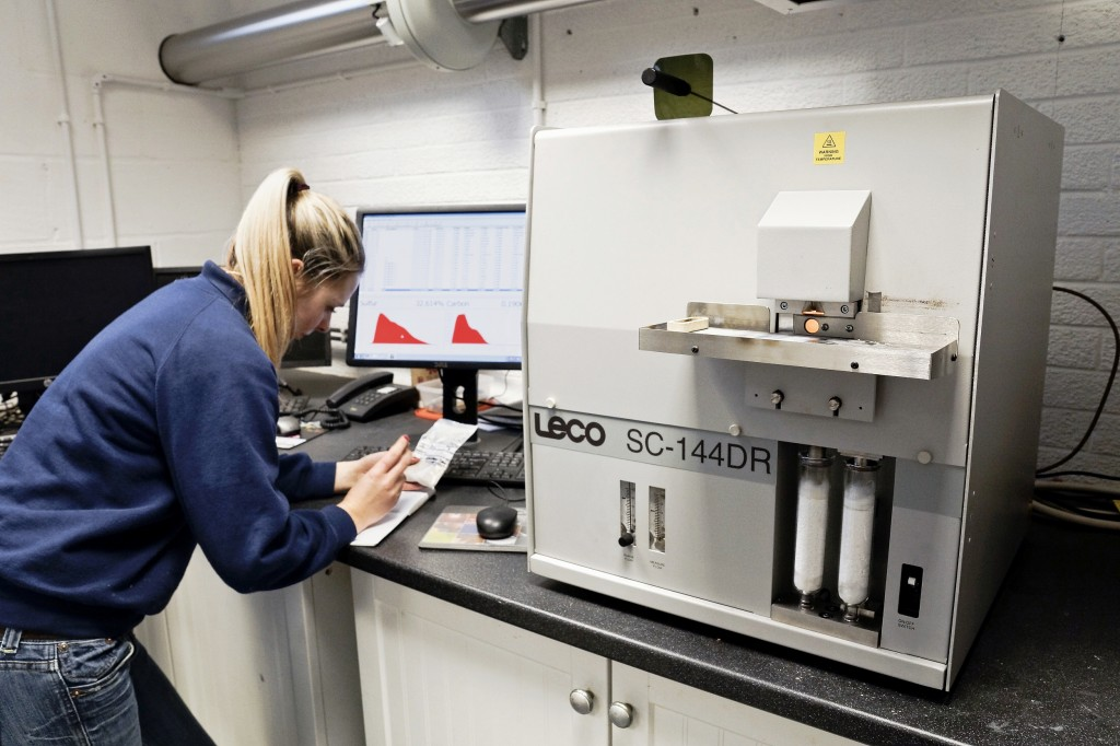 LECO carbon sulphur analysers at Wheal Jane Laboratory